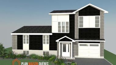Plan Maison Québec -Plan de construction pour divers types de revêtement - Québec