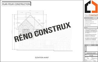 Plan construction- Agrandissement Maison Québec