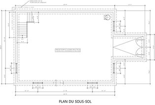 Exemple de plan de construction / plan de sous-sol