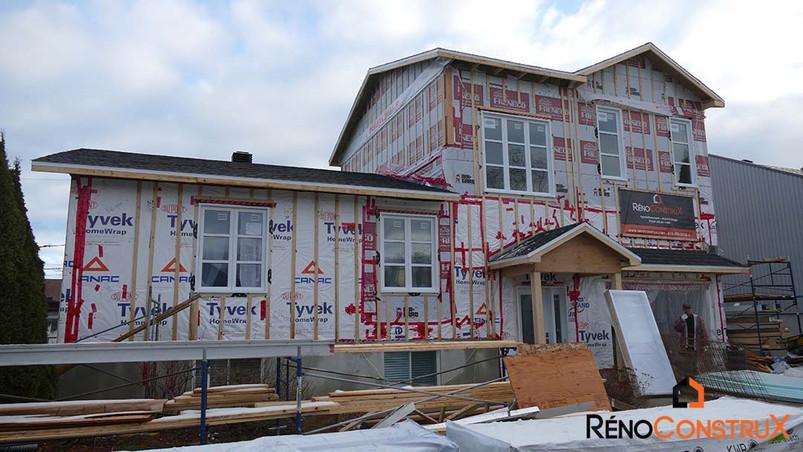 Extension d'étage d'une maison - QuébecExtension d'étage d'une maison - Québec