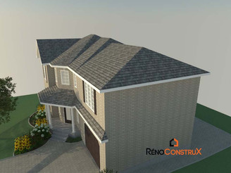 Plan 3D -Rallonge de maison