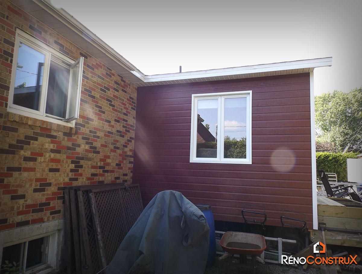 Photo agrandissement maison qu bec r no construx for Agrandissement maison 90