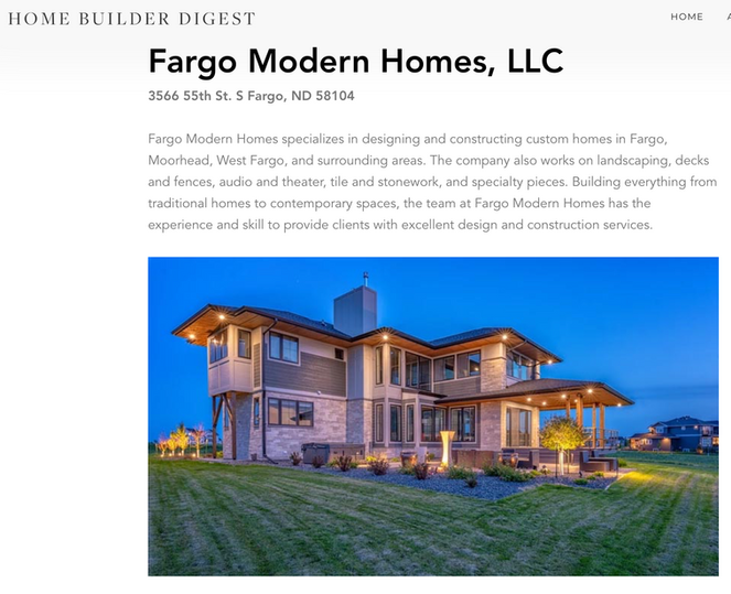 HOME BUILDER DIGEST FEATURE