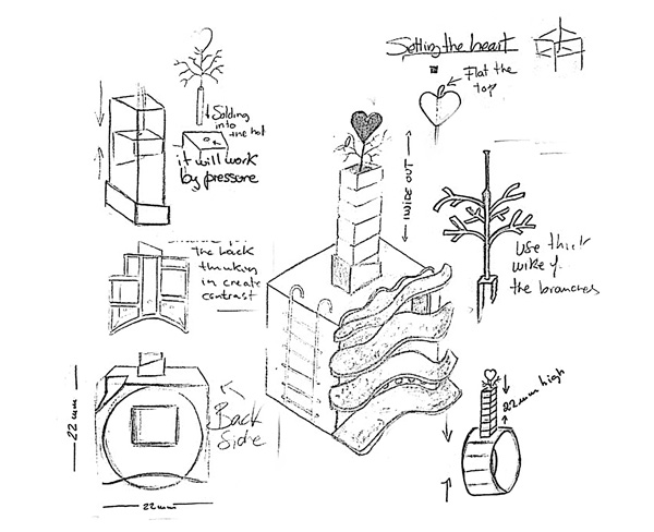 Memories ring sketches