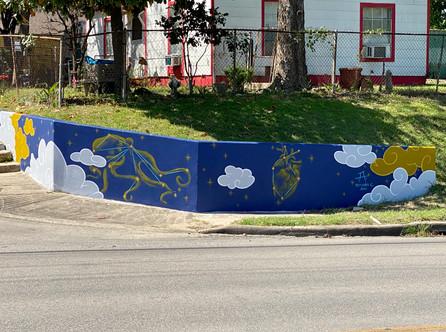 Mural for Magnolia Park in Houston's East End