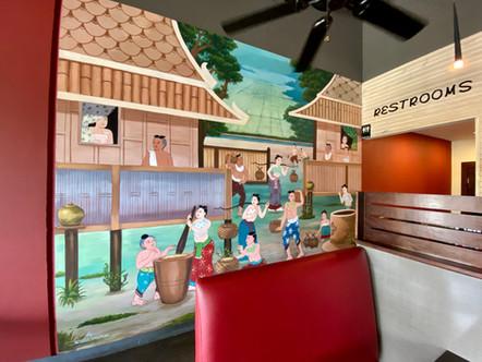 Mural for Thai Restaurant. Katy, Tx