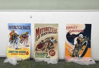 Vintage poster replicas. 6ftx4ft