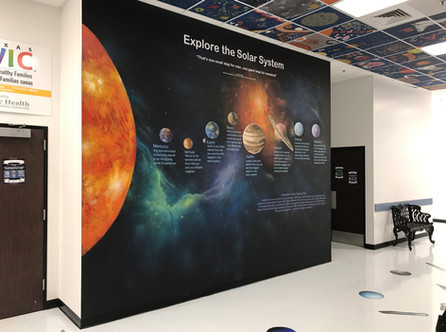 Galaxy Mural 1. With Up Art Studio