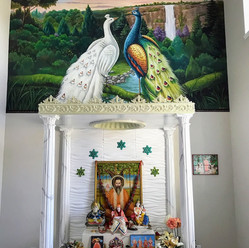 Peacock Mural for temple Room