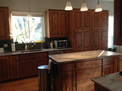 Derrer Job Island and Sink Cabinets