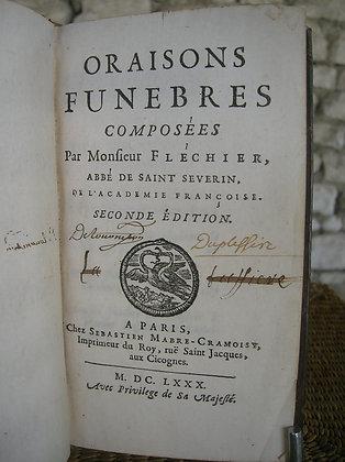 FLECHIER /  Oraisons funèbres