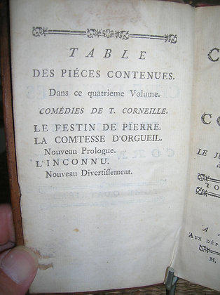 CORNEILLE (4 vol) Chef d'oeuvres dramatiques