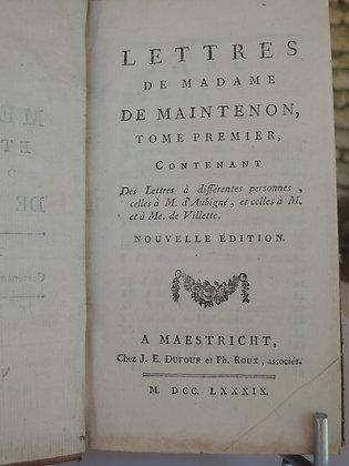 de LA BEAUMELLE / Lettres de Madame de Maintenon
