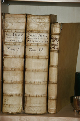 VOET Johannis / Commentarus and Pandectas