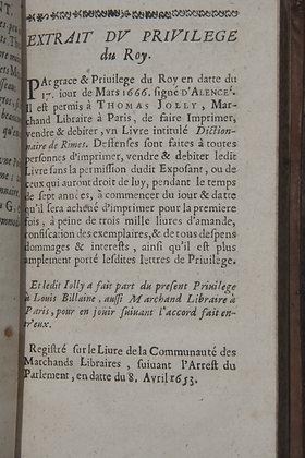 RICHELET  /  Dictionnaire de Rimes