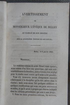 DEVIE / Rituel du diocèse de Belley