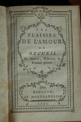 Les Plaisirs de l'Amour, ou recueil d'histoires galantes