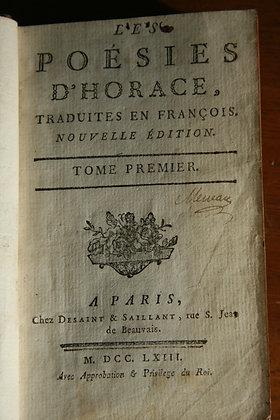 HORACE /  Poésie