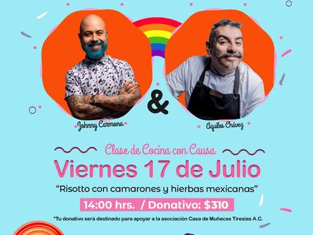 Clase virtual con el Chef Aquiles Chávez.