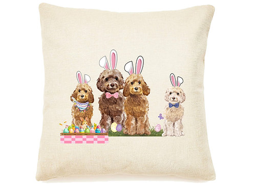 Easter Doodle Throw Accent Pillow