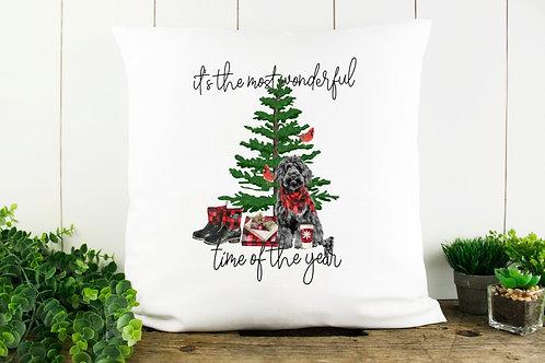 Doodle Christmas Throw Pillow