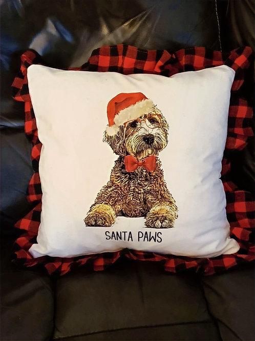 Adorable Doodle Christmas Pillow