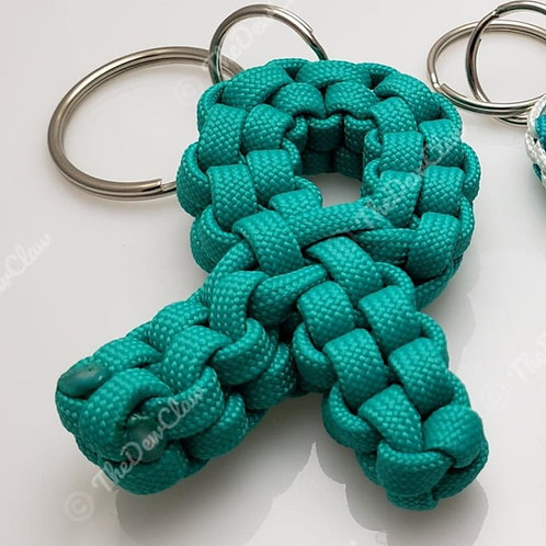 Cervical and Ovarian Cancer awareness keychain