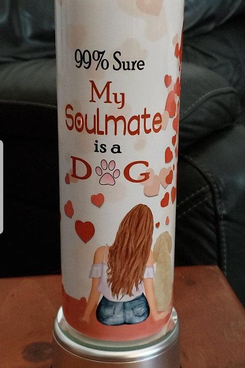 Soulmate 20 oz Skinny Tumbler
