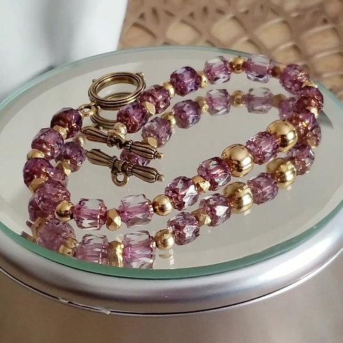 Spring has sprung Czech glass bracelet