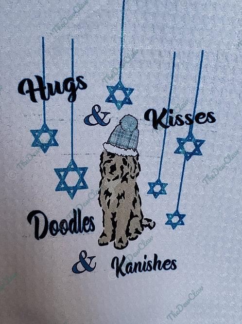 Hanukkah Doodle Kitchen Towel