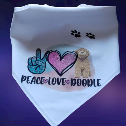 Peace Love Doodles Bandana