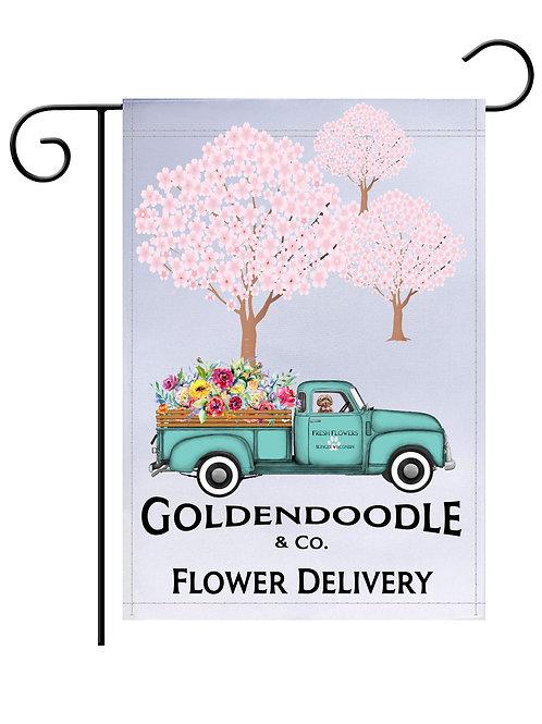 Golden Doodle and Co Flower Flag