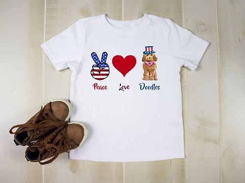 Patriotic Peace Love Doodle