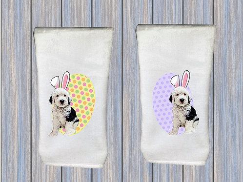 Sheepadoodle Hand Towels