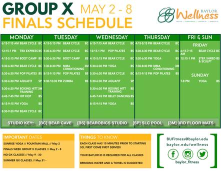 GX Finals Schedule