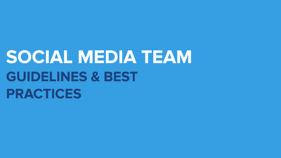 Social Media Team Guidelines PPT