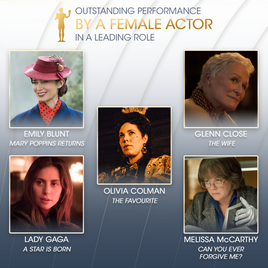 Nominee Graphic for Female Actor in a Leading Role Category