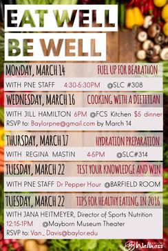 Nutrition Week Schedule