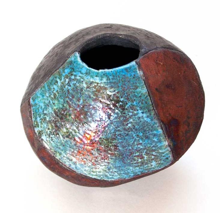 Egg vase copper