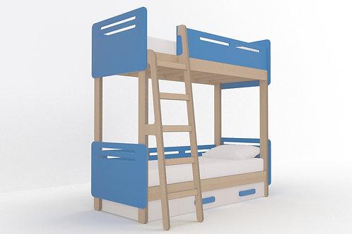 Кровать-чердак с 2-мя спальными местами WOODY