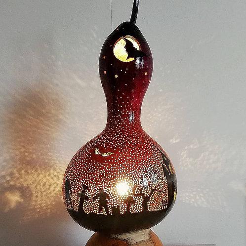 Hallowe'en Gourd Lamp