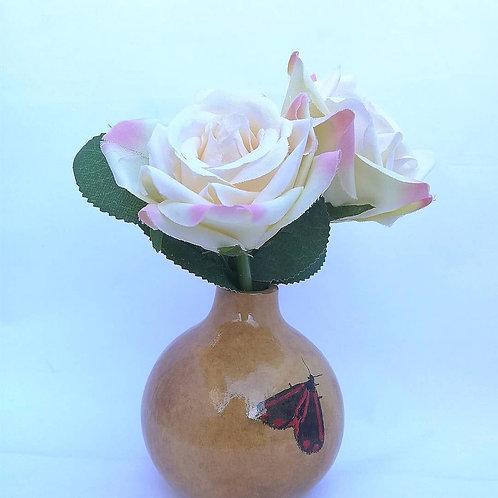 Small Flower Vase - Cinnabar moth