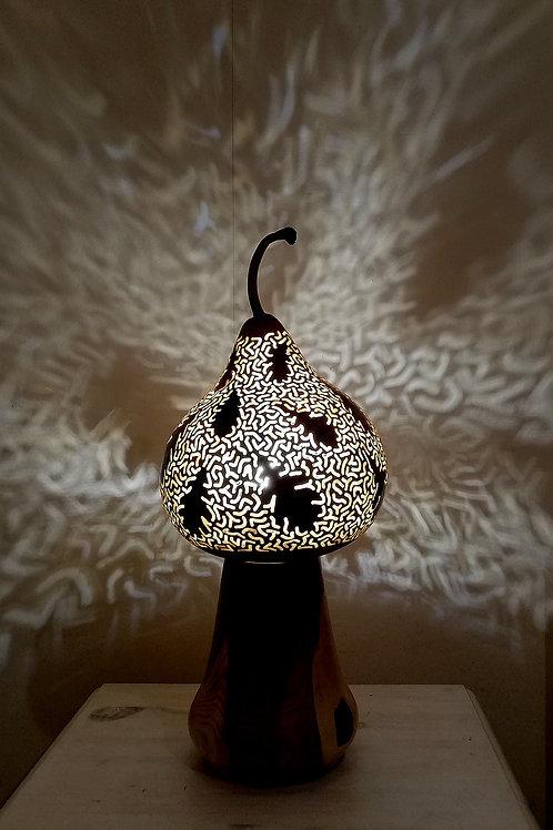 Oak Leaf Gourd Lamp