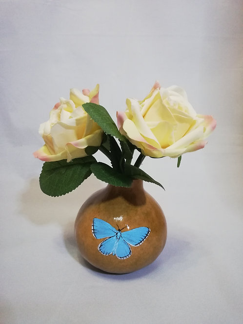 Small Flower Vase - Adonis Blue Butterfly