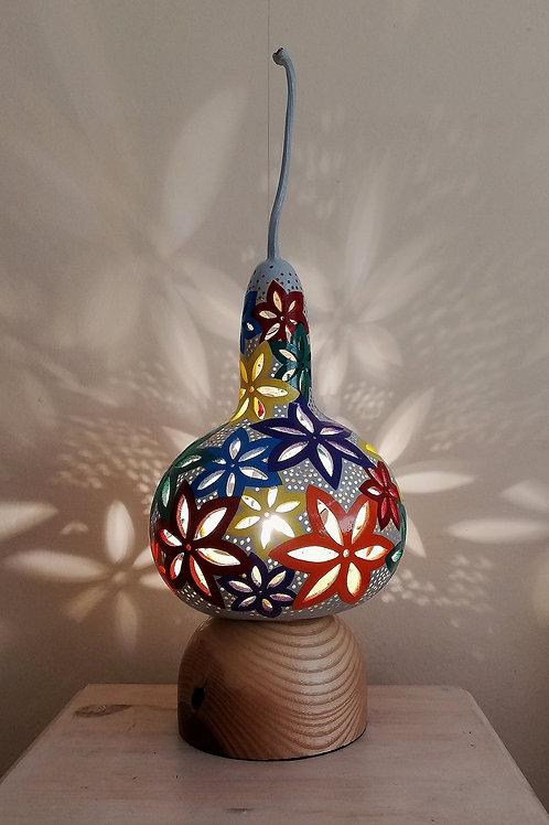 Flower Power Gourd Lamp