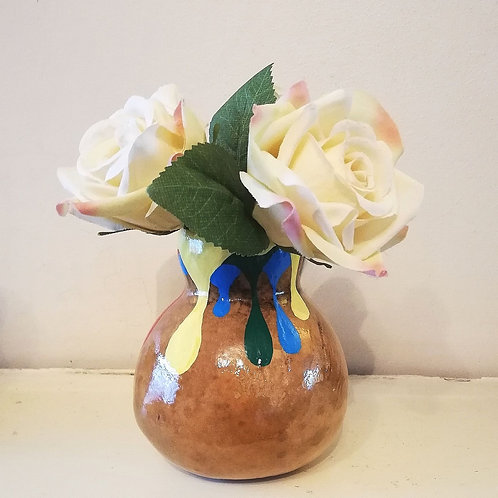 Paint Pot Flower Vase