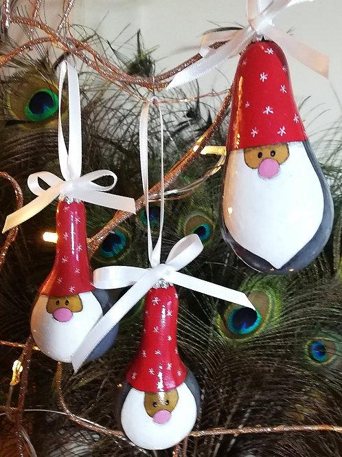 Set of 3 Santa Hanging Decorations