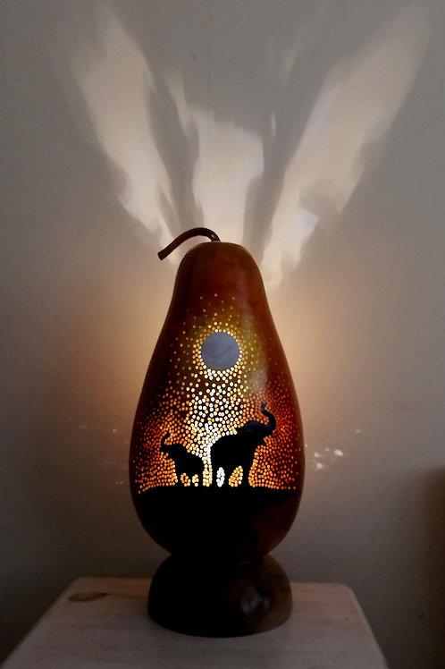 Elephant at Sunset Double-sided Lamp