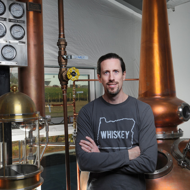 Steven Day is the head distiller at Branch Point, among the many hats he wears.