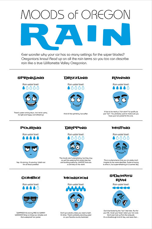 Moods of Oregon Rain Poster